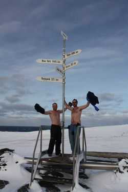 Shirtless in the Arctic